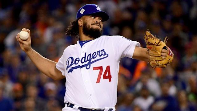 "Dodgers closer <a class=""link rapid-noclick-resp"" href=""/mlb/players/8758/"" data-ylk=""slk:Kenley Jansen"">Kenley Jansen</a> suggests the players might need to go on strike. (AP)"
