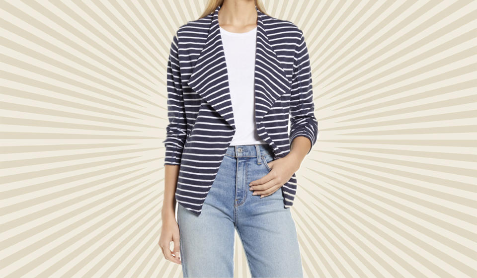 Crisp and professional — but as comfortable as a favorite sweatshirt. (Photo: Nordstrom)