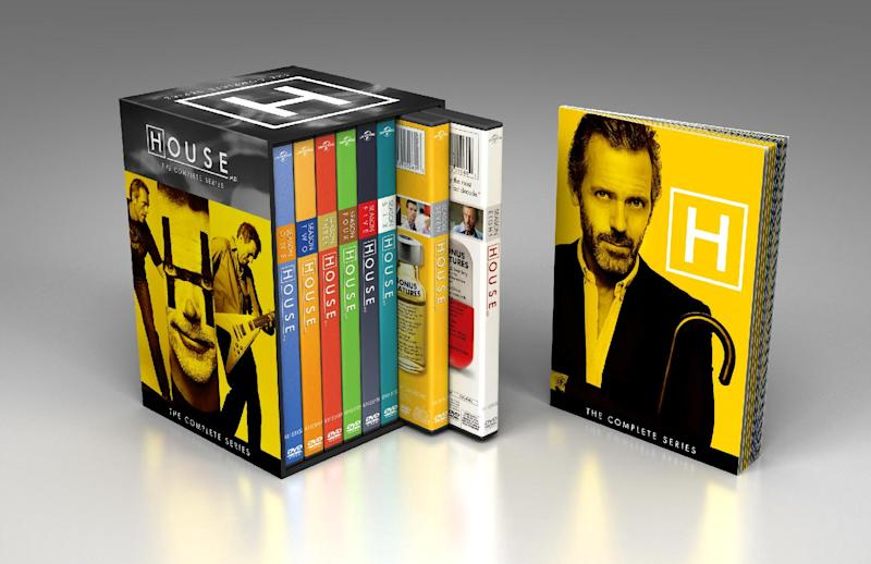 """This product image released by NBCUniversal shows the DVD collection for """"House: The Complete Series."""" The collection includes 41 discs with all 176 episodes, plus a 24-page souvenir booklet. (AP Photo/NBCUniversal)"""