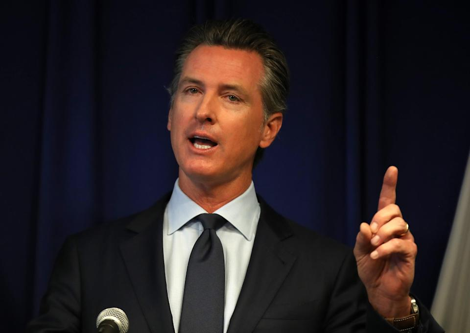 Gavin Newsom announces California Covid curfew after coming under fire for restaurant trip (Getty Images)