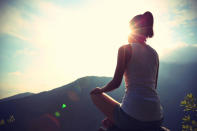<p>OK, yoga is technically exercise but it's also mindful meditation. When people try to lose weight, they often lose sight of the <i>why.</i> Instead of focusing all of your attention on what's happening on the scale, take a minute to relax and set an intent.</p>