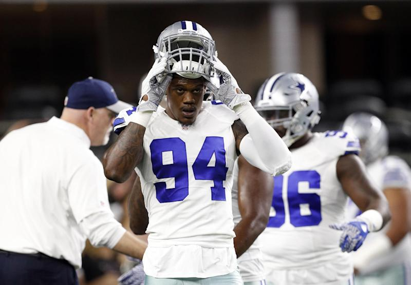 The Cowboys' Randy Gregory is back in the league after sitting out the entire 2017 season due to suspension. (AP)