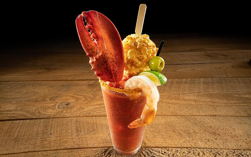 Red Lobster's New Bloody Mary Is Topped With a Lobster Claw and Cheddar Bay Biscuit