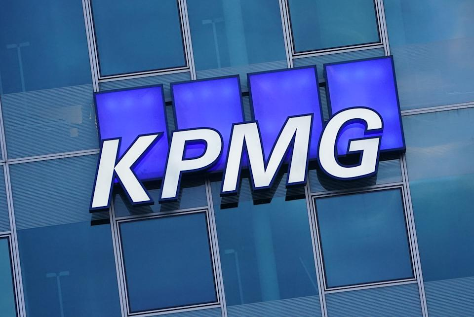 The logo of KPMG. Photo: Sean Gallup/Getty Images