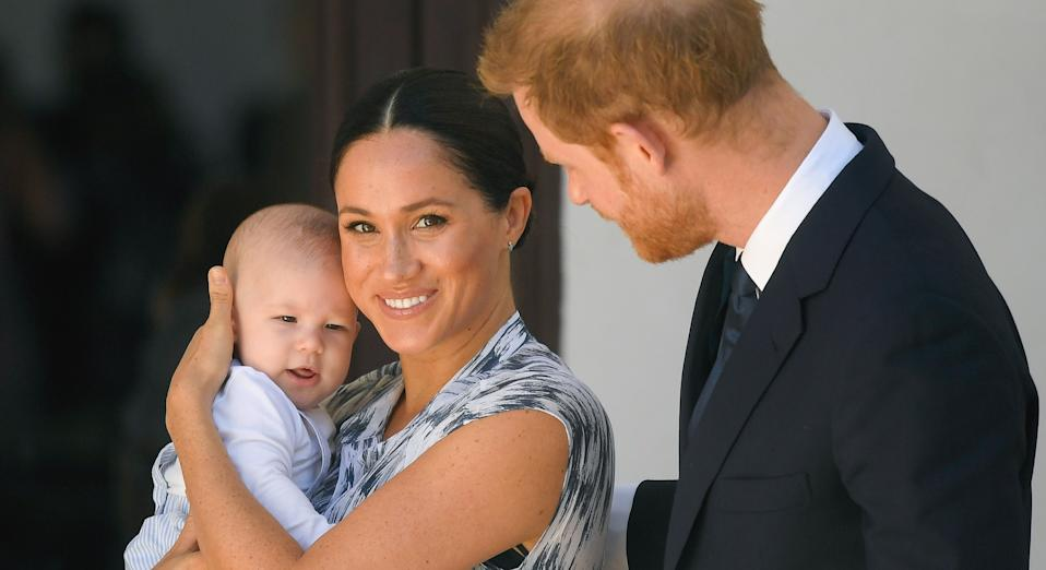 Prince Harry told Dr Jane Goodall last year during an interview for Vogue that Archie wouldn't receive the same upbringing he experienced (Getty Images)
