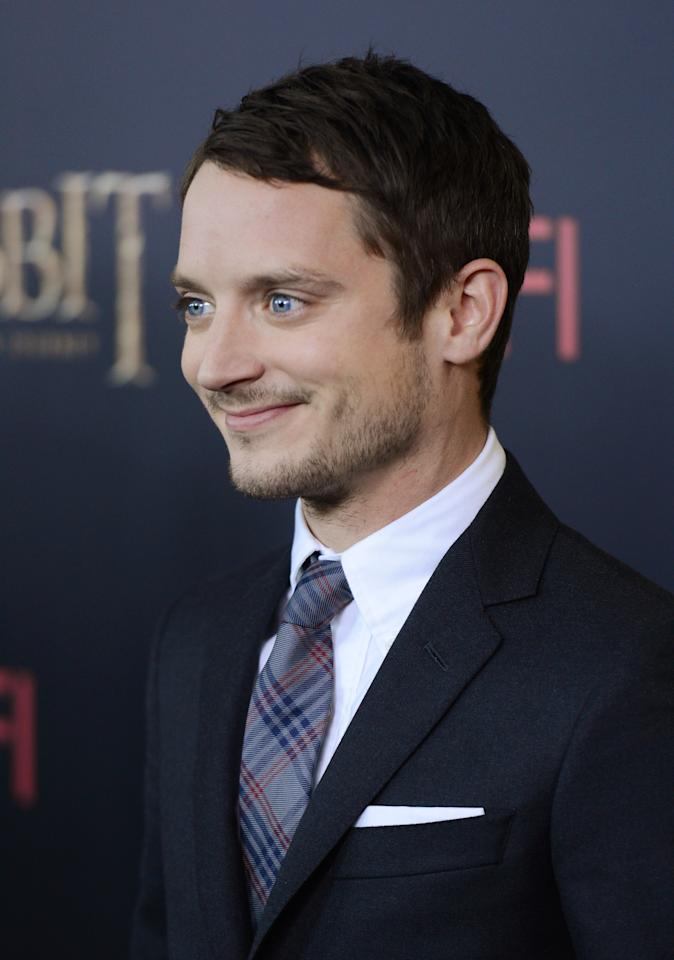 "NEW YORK, NY - DECEMBER 06:  Elijah Wood attends ""The Hobbit: An Unexpected Journey"" New York premiere benefiting AFI at Ziegfeld Theater on December 6, 2012 in New York City.  (Photo by Andrew H. Walker/Getty Images)"