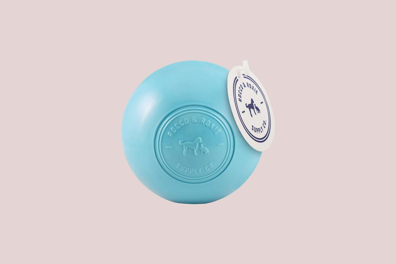 "<p>A doggy-durable ball made from thermoplastic elastomer (TPE) easily provides plenty of healthy playtime. It's also free of BPA and other toxic chemicals, so you have ease of mind knowing Fido is fetching from the best.</p> <p><em><strong>Shop Now:</strong> Rocco & Roxie Supply Co. Nearly Indestructible Dog Toy Ball, $17, <a href=""https://prf.hn/click/camref:1100l5eMx/pubref:MSLLIFEMostIndestructibleDogToysRColdironMar20/destination:https%3A%2F%2Fwww.chewy.com%2Frocco-roxie-supply-co-nearly%2Fdp%2F171957"">chewy.com</a>.</em></p>"