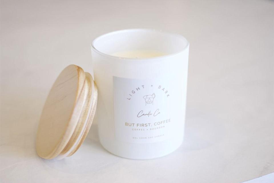 """<p>This candle company donates a portion of their proceeds to animal rescue work, so pet lovers can give back while getting cozy. </p> <p><strong>Buy it!</strong> Light + Bark Candle, $28.00; <a href=""""https://lightandbark.com/products/coffee-in-the-a-m"""" rel=""""nofollow noopener"""" target=""""_blank"""" data-ylk=""""slk:LightAndBark.com"""" class=""""link rapid-noclick-resp"""">LightAndBark.com</a></p>"""