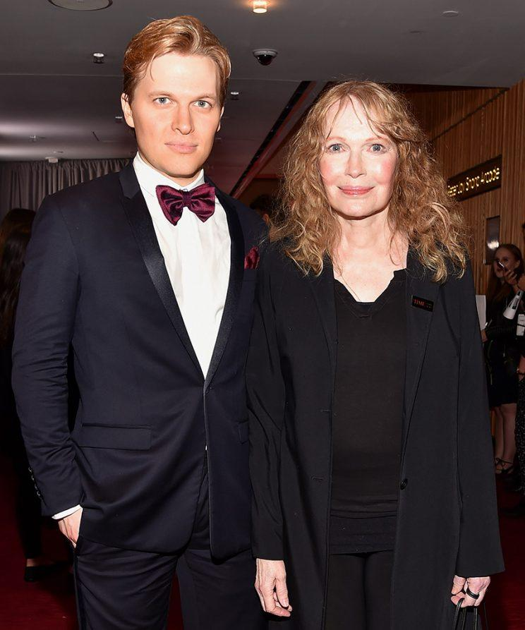 Ronan Farrow and Mia Farrow attend the 2017 TIME 100 Gala at Jazz at Lincoln Center on April 25, 2017 in New York City