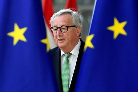 European Commission President Jean-Claude Juncker arrives at a European Union leaders summit after European Parliament elections to discuss who should run the EU executive for the next five years, in Brussels, Belgium May 28, 2019. REUTERS/Piroschka van de Wouw