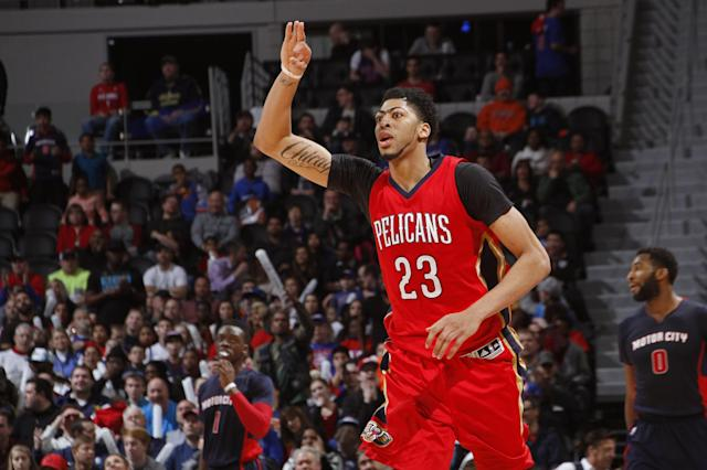 """<a class=""""link rapid-noclick-resp"""" href=""""/nba/players/5007/"""" data-ylk=""""slk:Anthony Davis"""">Anthony Davis</a> has been a top-five fantasy player every year aside fromhis rookie season. (Photo by B.Sevald/Einstein/NBAE via Getty Images)"""