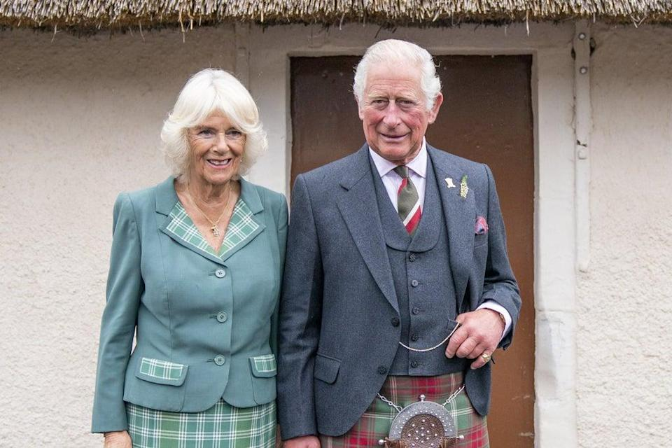 The Prince of Wales and the Duchess of Cornwall, known as the Duke and Duchess of Rothesay when in Scotland, during the visit to South Ayrshire (Jane Barlow/PA) (PA Wire)