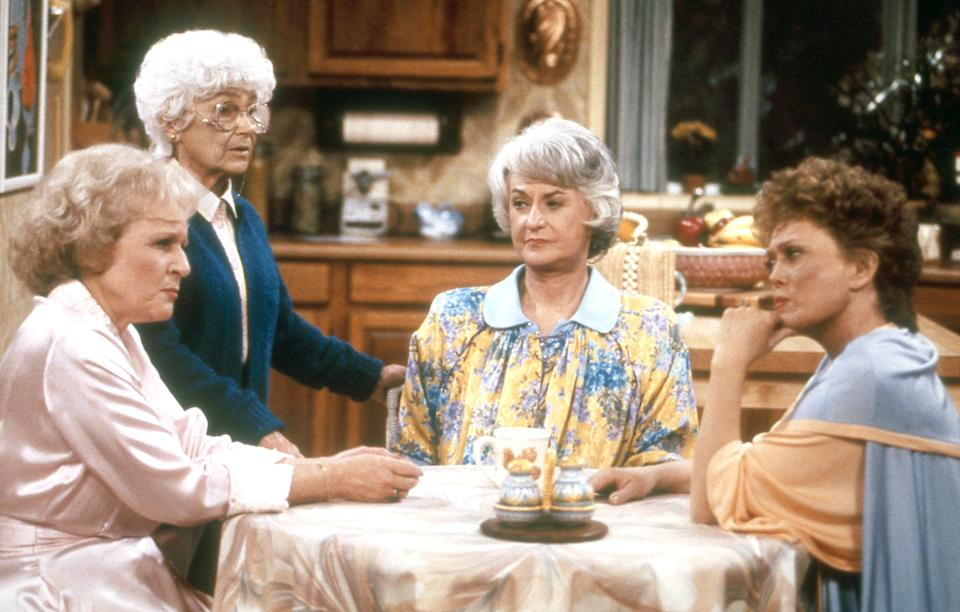 """From left: Betty White, Estelle Getty, Bea Arthur and Rue McClanahan star in """"The Golden Girls."""" (Photo: Touchstone Television/courtesy Everett Collection)"""