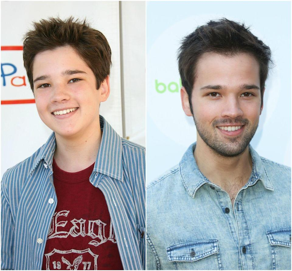 """<p>Freddie Benson from <em><a href=""""https://fave.co/2Wag1ti"""" rel=""""nofollow noopener"""" target=""""_blank"""" data-ylk=""""slk:iCarly"""" class=""""link rapid-noclick-resp"""">iCarly</a></em> would definitely get Carly's attention now. Nathan is still acting, and <a href=""""https://www.seventeen.com/celebrity/movies-tv/a12192856/icarly-game-shakers-easter-eggs/"""" rel=""""nofollow noopener"""" target=""""_blank"""" data-ylk=""""slk:directed episodes"""" class=""""link rapid-noclick-resp"""">directed episodes</a> of Nickelodeon shows <em>Henry Danger</em> and <em>Game Shakers</em>. He <a href=""""https://www.seventeen.com/celebrity/celebrity-couples/news/a35774/there-was-a-major-icarly-reunion-at-nathan-kresss-wedding/"""" rel=""""nofollow noopener"""" target=""""_blank"""" data-ylk=""""slk:married London Elise Moore"""" class=""""link rapid-noclick-resp"""">married London Elise Moore</a> in 2015, and the couple welcomed their first child, <a href=""""https://nostalgiaisthenewblack.com/2017/12/23/nathan-kress-dad-daughter/"""" rel=""""nofollow noopener"""" target=""""_blank"""" data-ylk=""""slk:daughter Rosie Carolyn"""" class=""""link rapid-noclick-resp"""">daughter Rosie Carolyn</a>, in December 2017.</p><p>He lent his voice to the Netflix cartoon, <em>Pinky Malinky</em>.<br></p>"""