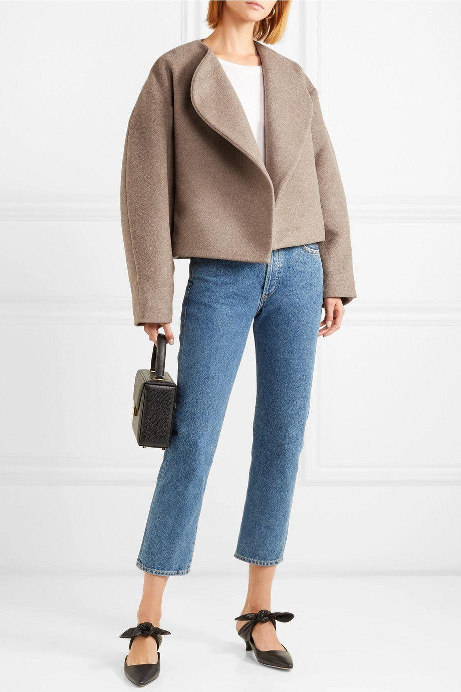 Layer a tan jacket over it for the fall months.