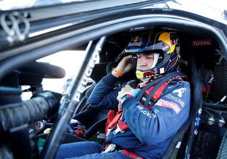 Dakar Rally - 2018 Peru-Bolivia-Argentina Dakar rally - 40th Dakar Edition stage eleven, Belen to Chilecito - January 17, 2018. Carlos Sainz of Spain prepares to depart for the stage. REUTERS/Andres Stapff