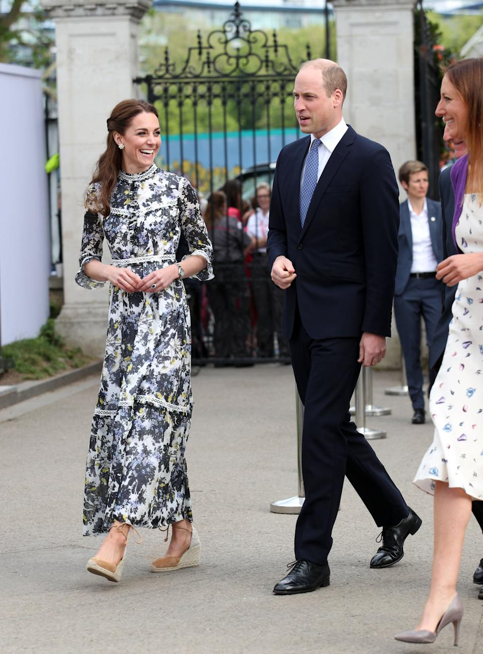 The duke and duchess at the RHS Chelsea Flower Show on May 20.