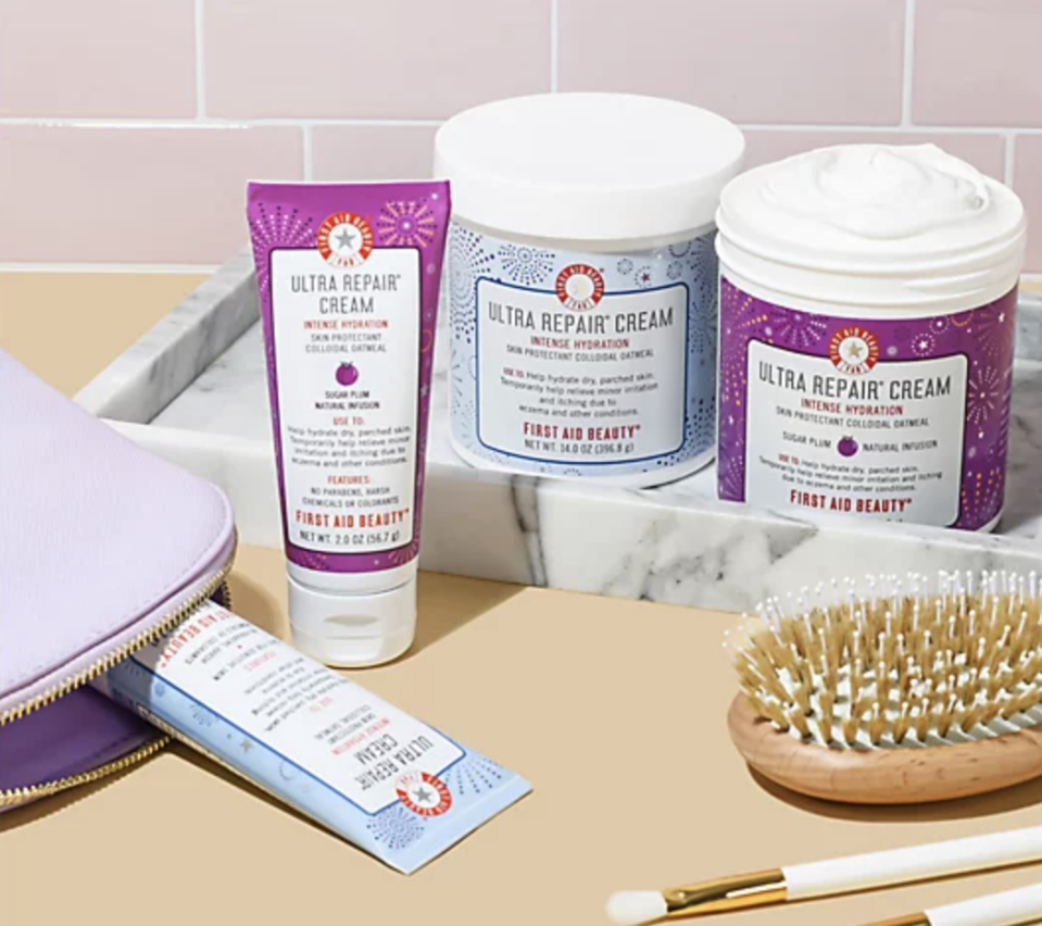This beautifully packaged high-emollient cream for dry skin is the perfect winter-weather present. (Photo: QVC)