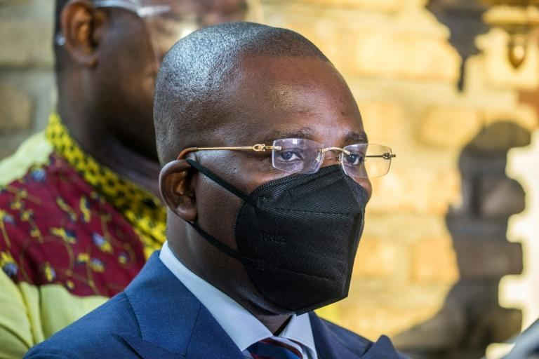 Haiti's interim Prime Minister Claude Joseph, seen here in Port-au Prince on July 11, 2021, will step down, an official says