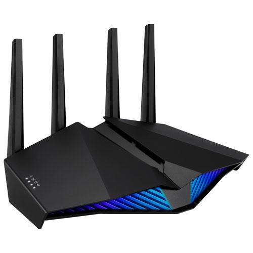 Save $70 on the ASUS 6-Stream Wireless AX5400 Dual-Band Wi-Fi 6 Router. Image via Best Buy.