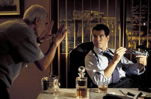 <p>Lee Tamahori directs Pierce Brosnan in 'Die Another Day', 2002.</p>