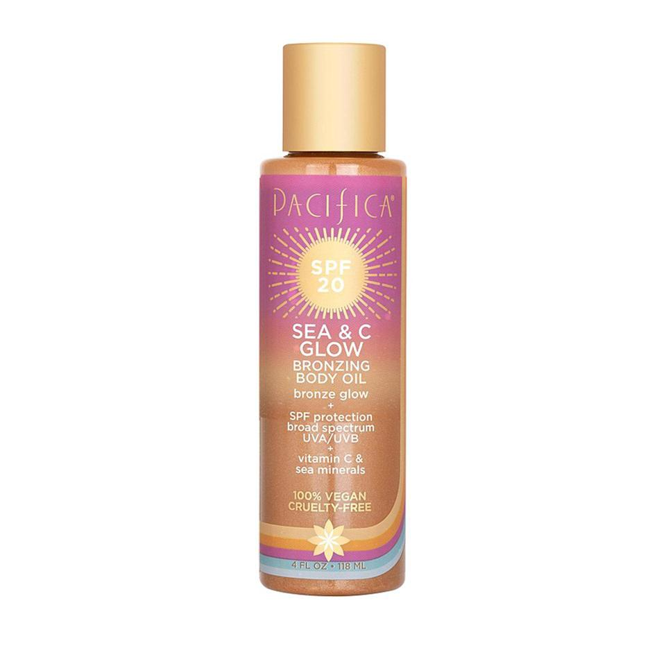 "<p>""OK, I'm not really the bronzing-oil type, but Pacifica Sea & C Glow Bronzing Body Oil is the exception. It leaves my skin feeling super hydrated and soft (not sticky); the 'bronzing' effect is more of a glowy shimmer that washes off in the shower, and the scent is fresh and sea-breezy. The only caveat is that since it has a low SPF (20), you should definitely pair it with other types of <a href=""https://www.allure.com/gallery/best-sunscreens-for-summer?mbid=synd_yahoo_rss"" rel=""nofollow noopener"" target=""_blank"" data-ylk=""slk:sun protection"" class=""link rapid-noclick-resp"">sun protection</a>."" — <em>Kara McGrath, deputy editor</em></p> <p><strong>$16</strong> (<a href=""https://shop-links.co/1715032588480529090"" rel=""nofollow noopener"" target=""_blank"" data-ylk=""slk:Shop Now"" class=""link rapid-noclick-resp"">Shop Now</a>)</p>"