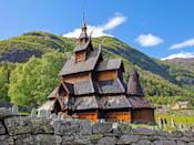 """Built around 1180, the Borgund Stave Church is one of <a href=""""https://www.cntraveler.com/gallery/beautiful-places-in-scandinavia?mbid=synd_yahoo_rss"""" rel=""""nofollow noopener"""" target=""""_blank"""" data-ylk=""""slk:Norway"""" class=""""link rapid-noclick-resp"""">Norway</a>'s finest examples of a stave church (wooden structures defined by their corner-posts and timber frames). Although no longer used for religious purposes, the landmark now serves as a visitors' center with comprehensive information about Norwegian stave churches, dozens of which can be found around the country."""