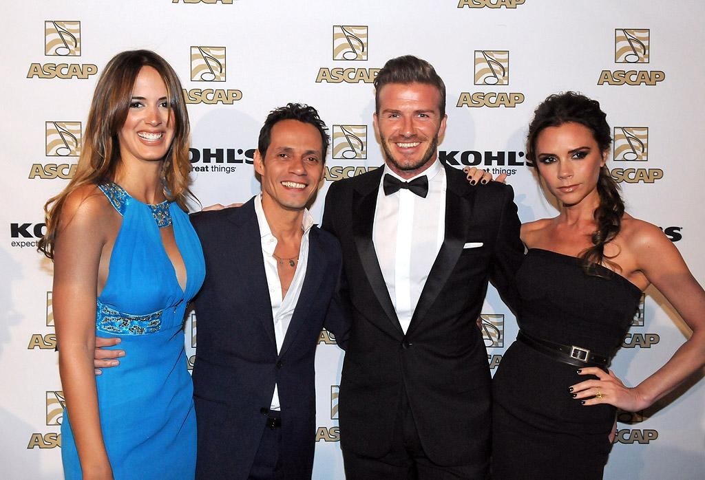 "<span style=""font-size:11.0pt;"">Despite the fact David and Victoria Beckham are good pals with Jennifer Lopez, the couple hung out with J.Lo's ex-husband Marc Anthony, 43, and his new girlfriend, 24-year-old Venezuelan model Shannon De Lima, on Tuesday night at the Latin Music Awards VIP reception in Beverly Hills. And lest you think it's only the men who get to date people 20 years their junior, Lopez's currently boyfriend, backup dancer Casper Smart, is 24 too! (3/20/2012)<br></span>"