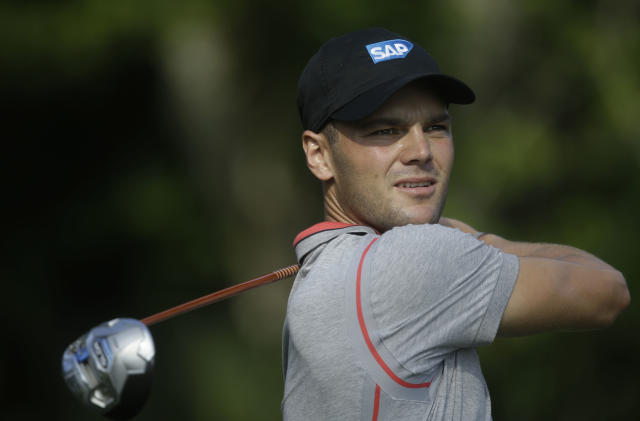 Martin Kaymer of Germany, watches his shot from the seventh tee during the second round of The Players championship golf tournament at TPC Sawgrass, Friday, May 9, 2014 in Ponte Vedra Beach, Fla. (AP Photo/Gerald Herbert)