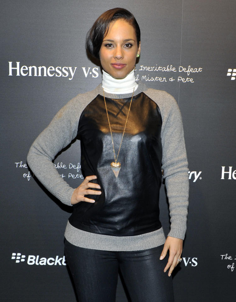 "PARK CITY, UT - JANUARY 17: Alicia Keys attends Hennessy VS Presents ""The Inevitable Defeat of Mister and Pete"" sponsored by Reebok and Blackberry at the Julie Nester Gallery  on January 17, 2013 in Park City, Utah. (Photo by Michael N. Todaro/WireImage)"