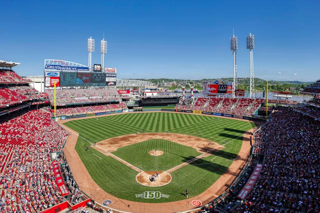 Monday's game between the Cincinnati Reds and the San Francisco Giants was delayed by bees. (Getty Images)