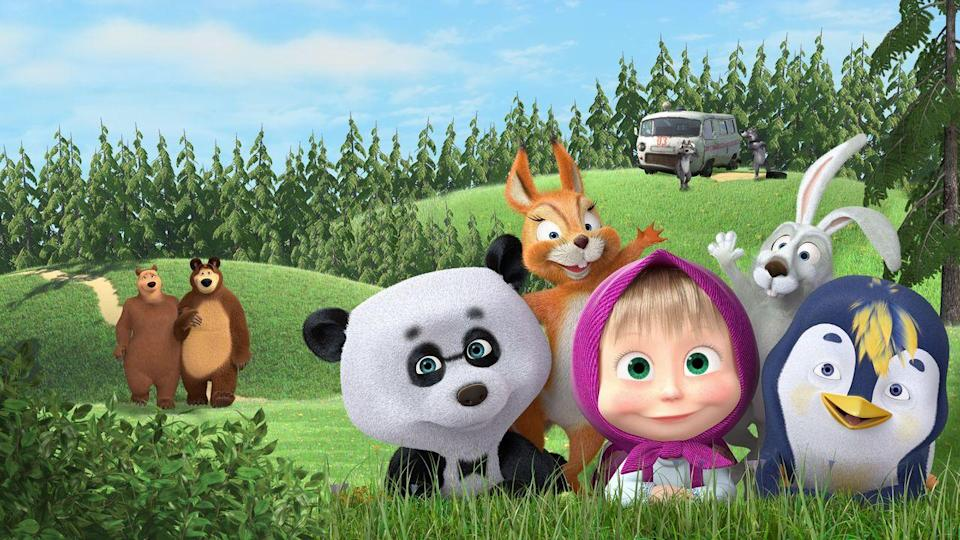 "<p>This Russian import centers around a girl named Masha who befriends some woodland creatures, including a (friendly) bear. Kids relate to the mischievous Masha and the mischief she gets up to with her animal buddies. If your kids like Masha, there's also <em><a href=""https://www.netflix.com/title/80097248"" rel=""nofollow noopener"" target=""_blank"" data-ylk=""slk:Masha's Spooky Stories"" class=""link rapid-noclick-resp"">Masha's Spooky Stories</a></em> and <em><a href=""https://www.netflix.com/title/80093829"" rel=""nofollow noopener"" target=""_blank"" data-ylk=""slk:Masha's Tales"" class=""link rapid-noclick-resp"">Masha's Tales</a></em>. </p><p><a class=""link rapid-noclick-resp"" href=""https://www.netflix.com/title/70286901"" rel=""nofollow noopener"" target=""_blank"" data-ylk=""slk:WATCH NOW"">WATCH NOW</a></p>"