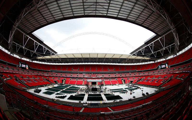 Wembley plays Tetris - Credit: Andrew Couldridge/REUTERS