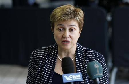 European Commissioner Georgieva arrives at EU foreign ministers meeting in Luxembourg