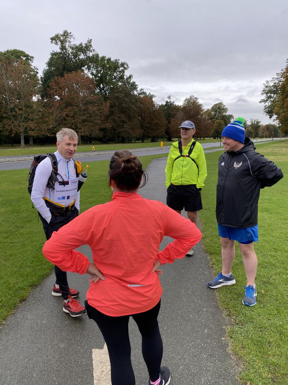Michael Ferndale with his Dublin support runners from the Blackrock Athletic Club