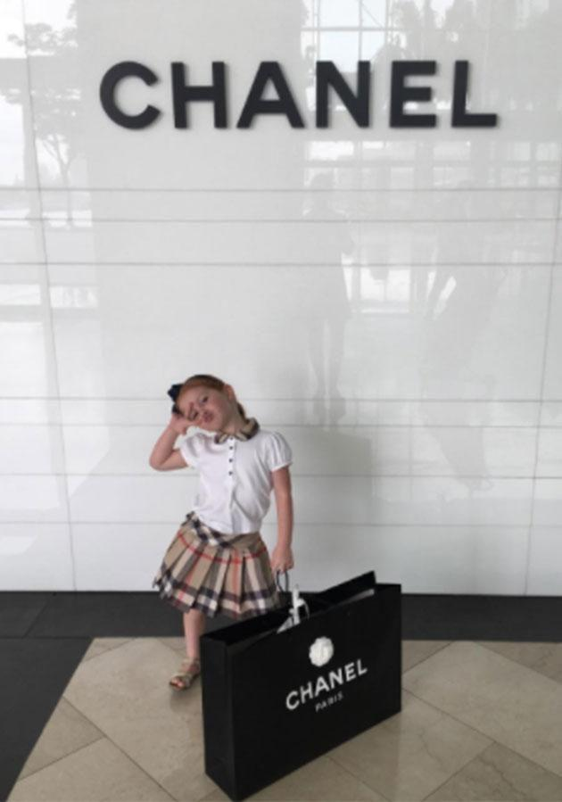 Exhausting day of shopping at Chanel. Photo: Instagram