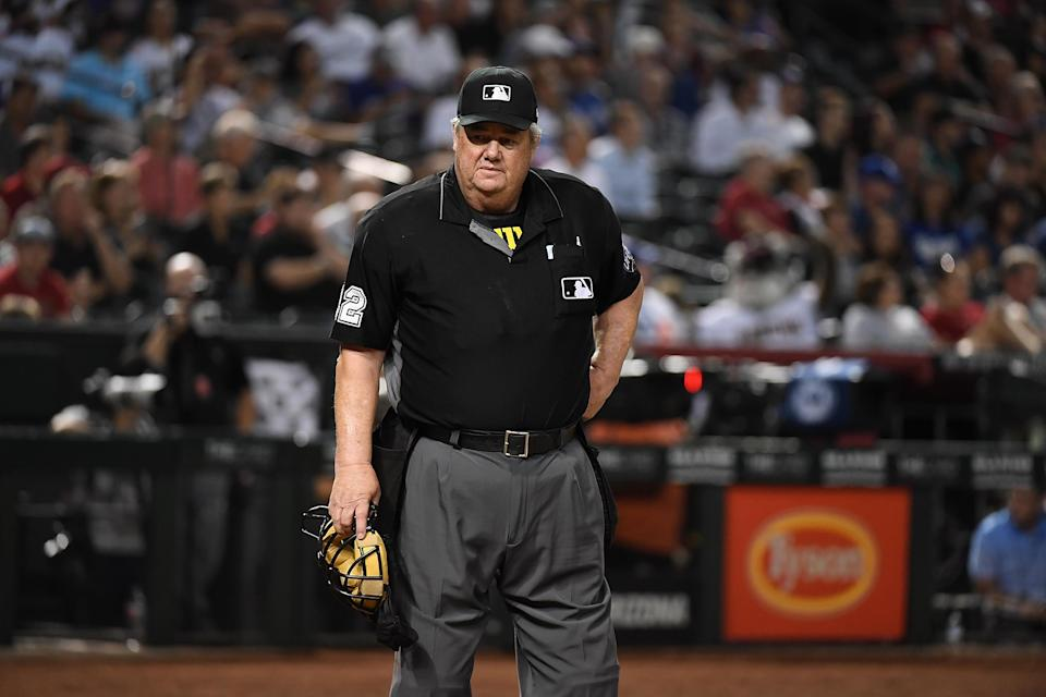Major League Baseball umpire Joe West has been the subject of much controversy again. (Getty Images)