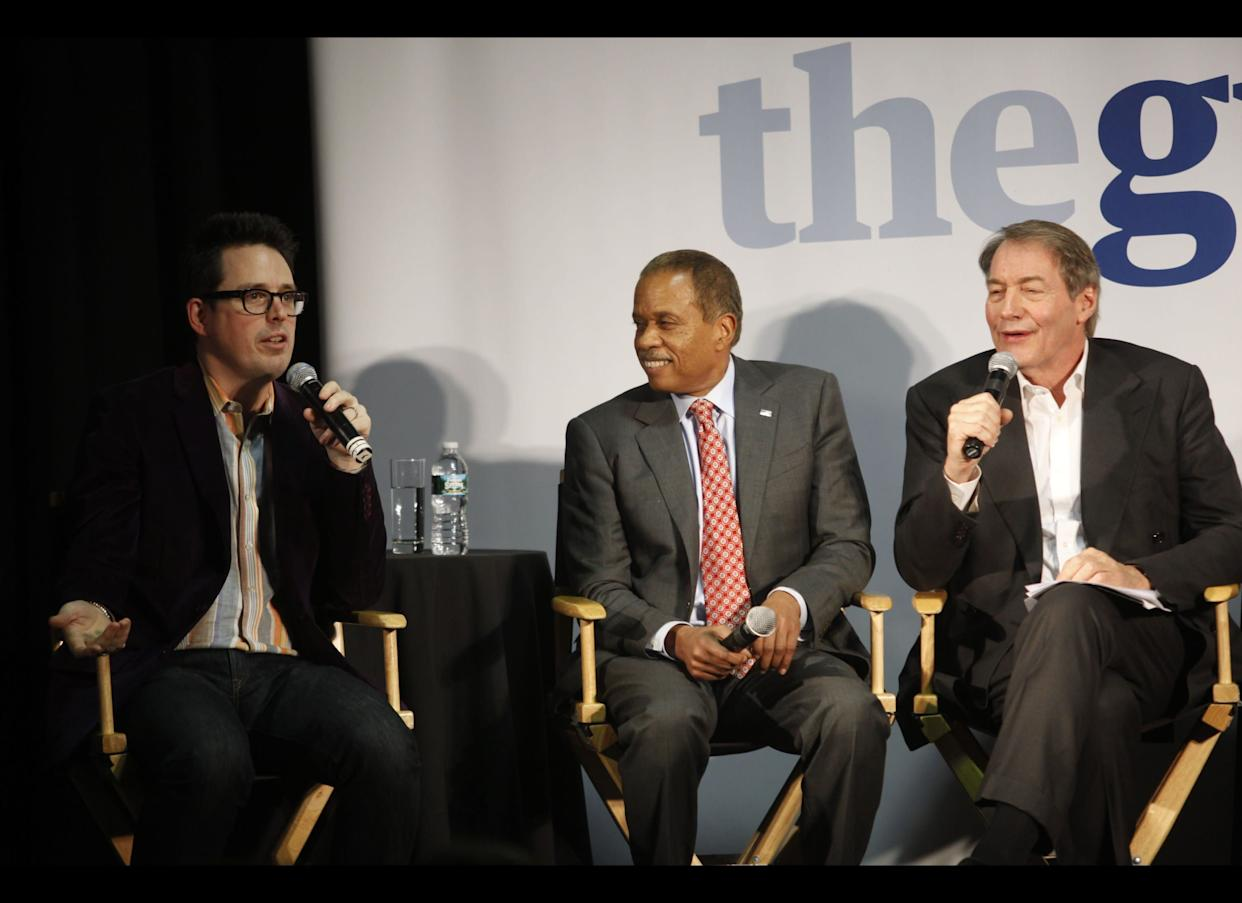 NEW YORK, NY - MAY 3: (L-R) Felix Salmon, Reuters Correspondent, Juan Williams, FOX News host, and Charlie Rose, host of Charlie Rose attend An Evening With The Guardian at Industria Studios on May 3, 2012 in New York City. (Photo by Thos Robinson/Getty Images for The Guardian)
