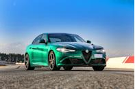 "<p>Although it shares its underpinnings, styling, and cabin with the <a href=""https://www.caranddriver.com/alfa-romeo/giulia"" rel=""nofollow noopener"" target=""_blank"" data-ylk=""slk:regular Giulia sedan"" class=""link rapid-noclick-resp"">regular Giulia sedan</a>, the <a href=""https://www.caranddriver.com/alfa-romeo/giulia-quadrifoglio"" rel=""nofollow noopener"" target=""_blank"" data-ylk=""slk:2021 Alfa Romeo Giulia Quadrifoglio"" class=""link rapid-noclick-resp"">2021 Alfa Romeo Giulia Quadrifoglio</a> is a different beast thanks to one critical element: its twin-turbocharged 2.9-liter V-6 engine. This gem of a powerplant cranks out a hearty 505 horsepower and takes the Giulia's performance to 11. It rivals the <a href=""https://www.caranddriver.com/audi/rs5-sportback"" rel=""nofollow noopener"" target=""_blank"" data-ylk=""slk:Audi RS5 Sportback"" class=""link rapid-noclick-resp"">Audi RS5 Sportback</a> and the <a href=""https://www.caranddriver.com/mercedes-amg/c63"" rel=""nofollow noopener"" target=""_blank"" data-ylk=""slk:Mercedes-AMG C63"" class=""link rapid-noclick-resp"">Mercedes-AMG C63</a>, and like the standard Giulia, the Quadrifoglio delivers thrilling handling and a drop-dead gorgeous exterior that really turns heads. <a href=""https://www.caranddriver.com/alfa-romeo"" rel=""nofollow noopener"" target=""_blank"" data-ylk=""slk:Alfa Romeo"" class=""link rapid-noclick-resp"">Alfa Romeo</a> isn't known for reliability, and over 40,000 miles with our <a href=""https://www.caranddriver.com/reviews/a23145269/alfa-romeo-giulia-quadrifoglio-reliability-update/"" rel=""nofollow noopener"" target=""_blank"" data-ylk=""slk:long-term Giulia Quadrifoglio"" class=""link rapid-noclick-resp"">long-term Giulia Quadrifoglio</a>, we experienced quite a few quality issues. But this supersedan's sporting character and unrivaled beauty make it easier to overlook those flaws.</p><p><a class=""link rapid-noclick-resp"" href=""https://www.caranddriver.com/alfa-romeo/giulia-quadrifoglio"" rel=""nofollow noopener"" target=""_blank"" data-ylk=""slk:Review, Pricing, and Specs"">Review, Pricing, and Specs</a></p>"