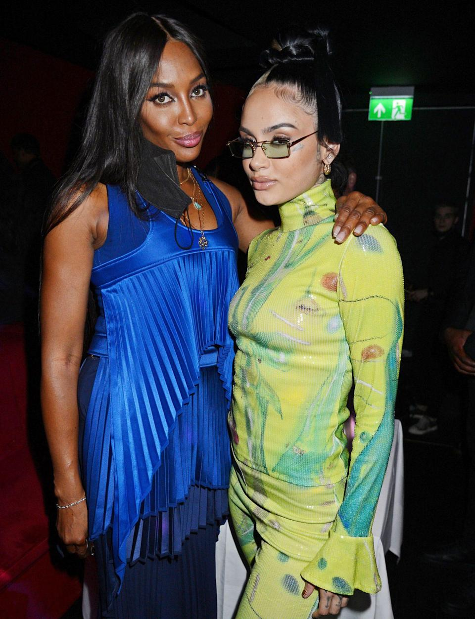 <p>Naomi Campbell and Kehlani get together on Sept. 16 at the London Fashion Week opening night party at The Windmill. </p>