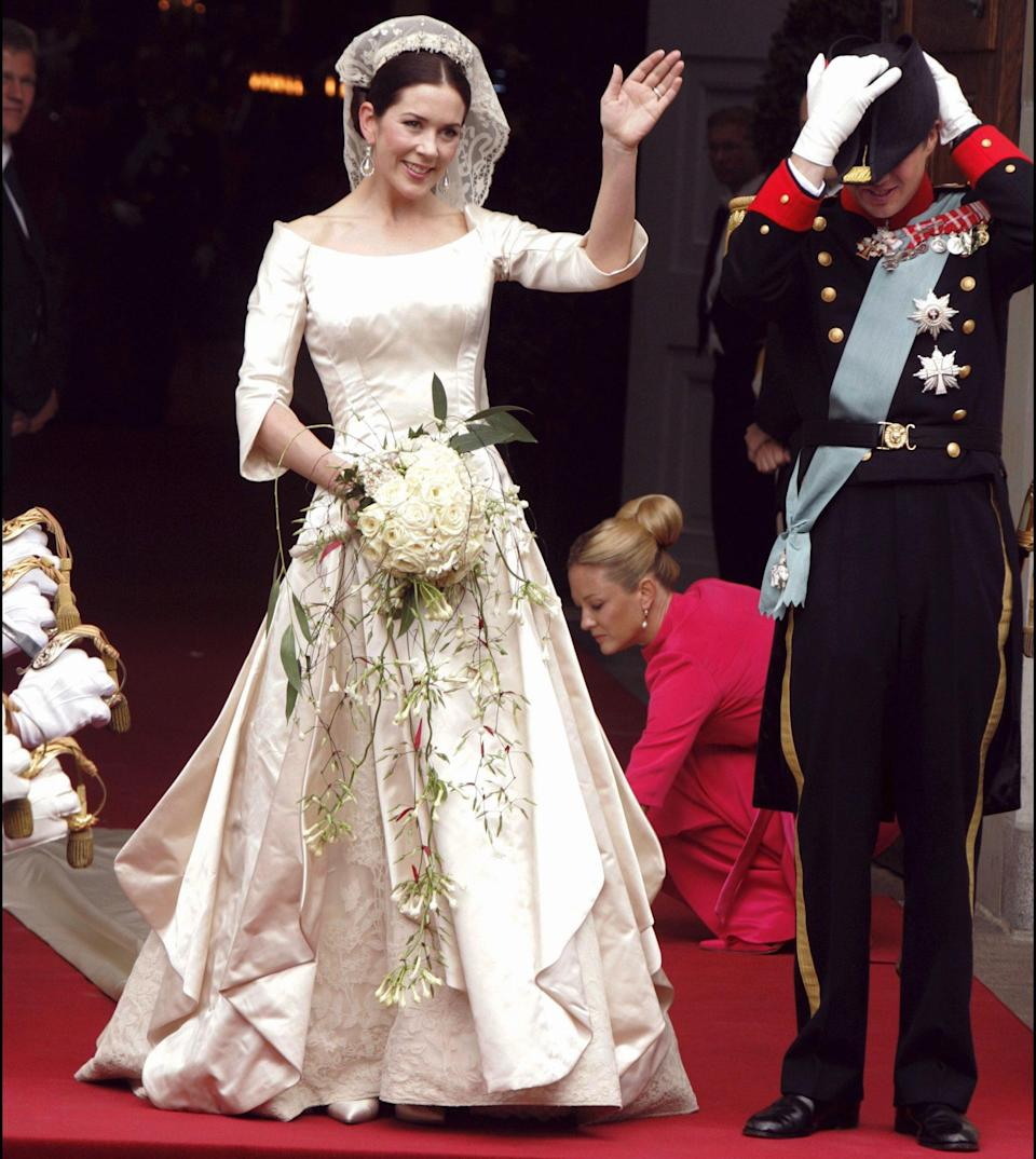Australia's Princess Mary also wore a similar dress in 2004. Photo: Getty