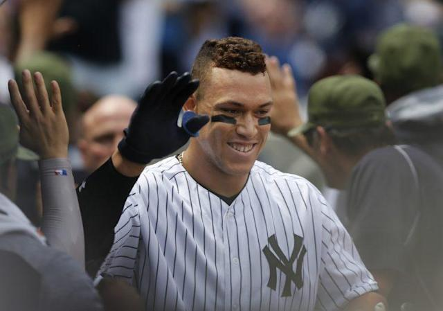Aaron Judge may be a rookie, but he's already quite popular. (AP Photo)