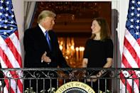 Conservative jurist Amy Coney Barrett's confirmation to become a US Supreme Court justice on October 26, 2020 could be a boost for President Donald Trump as he battles for reelection