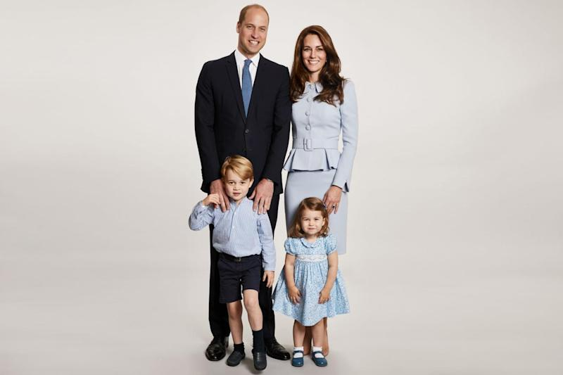 The picture used on the Duke and Duchess of Cambridge's 2017 Christmas card (Chris Jackson/Getty Images/PA )
