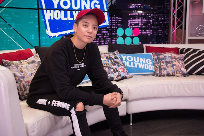 LOS ANGELES, CALIFORNIA - SEPTEMBER 26: (EXCLUSIVE COVERAGE) Amber Liu visits the Young Hollywood Studio on September 26, 2019 in Los Angeles, California. (Photo by David Mendez/Young Hollywood/Getty Images)