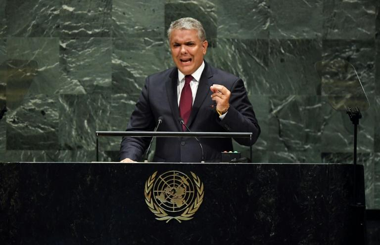 Colombia's president put the UN on alert about alleged Venezuelan misdeeds -- but the captions were wrong