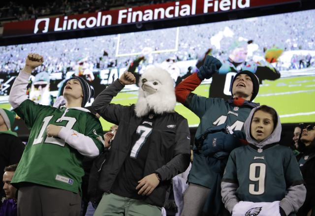 Eagles fans enjoyed seeing their team take a big lead in the NFC championship game. (AP)