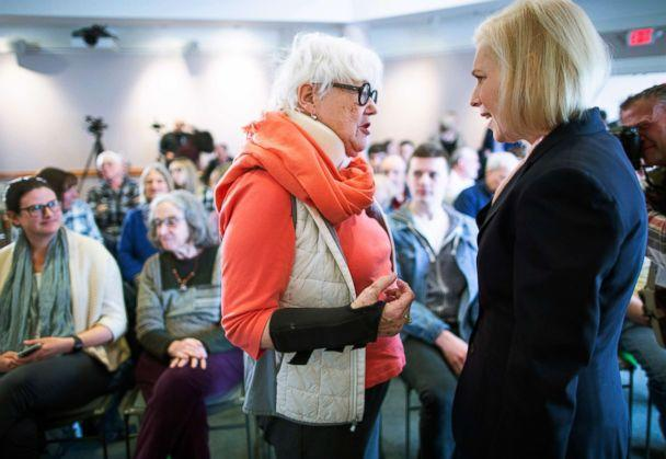 PHOTO: Kirsten Gillibrand campaigns at the Portsmouth Public Library during a campaign stop in Portsmouth, New Hampshire, March 15, 2019. (CJ Gunther/EPA via Shutterstock)