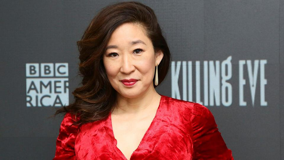 """<p>Sandra Oh has been nominated for 12 Emmy Awards — including five for her portrayal of Dr. Cristina Yang on """"Grey's Anatomy"""" and five for """"Killing Eve"""" (as both a star and producer of the show). Her acting roles have meant more than critical acclaim — it's also meant money in the bank.</p> <p><a href=""""https://www.gobankingrates.com/net-worth/celebrities/sandra-oh-net-worth/?utm_campaign=1047087&utm_source=yahoo.com&utm_content=48"""" rel=""""nofollow noopener"""" target=""""_blank"""" data-ylk=""""slk:Click through to find out Oh's net worth."""" class=""""link rapid-noclick-resp"""">Click through to find out Oh's net worth.</a></p> <p><em><strong>See: <a href=""""https://www.gobankingrates.com/net-worth/celebrities/celebrities-rags-to-riches/?utm_campaign=1047087&utm_source=yahoo.com&utm_content=49"""" rel=""""nofollow noopener"""" target=""""_blank"""" data-ylk=""""slk:30 Celebrities Who Went From Rags to Riches"""" class=""""link rapid-noclick-resp"""">30 Celebrities Who Went From Rags to Riches</a></strong></em></p> <p><small>Image Credits: Stuart Ramson/Invision/AP</small></p>"""