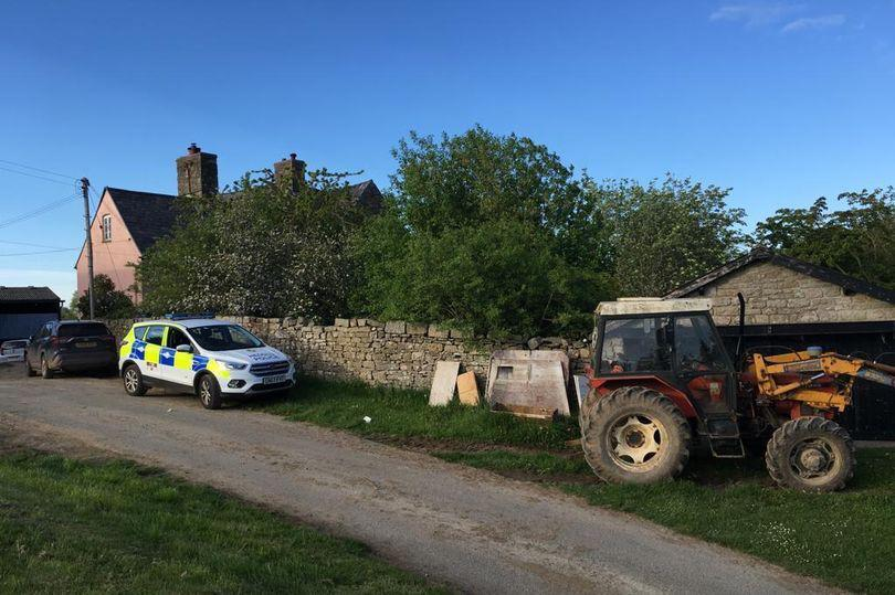 The farm in Gwehelog, Monmouthshire, where a father and son were killed in a water buffalo attack. (Wales News Service)
